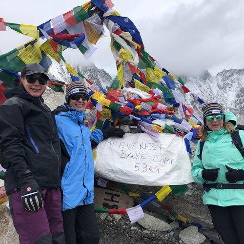 Deb Jessen, Melissa Purcell & Tan- Everest Base Camp